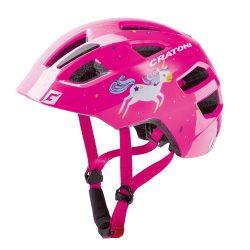 CRATONI MAXSTER - unicorn pink glossy gyermek bukósisak beépített világítással