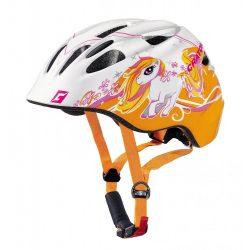CRATONI Akino Pony white-orange glossy gyermek bukósisak beépített világítással
